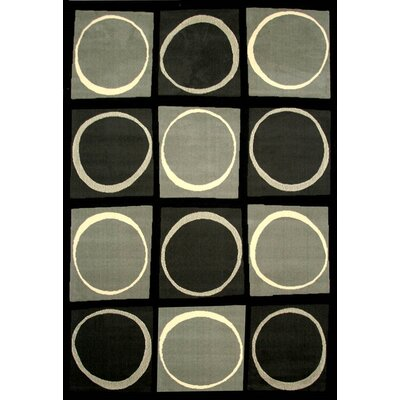 Rowe Black/Gray Area Rug Rug Size: 79 x 106
