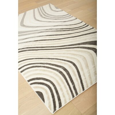Bruges Charcoal/Ivory Area Rug Rug Size: 79 x 106