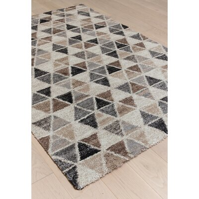 Devin Gray/Brown Area Rug Rug Size: 710 x 112