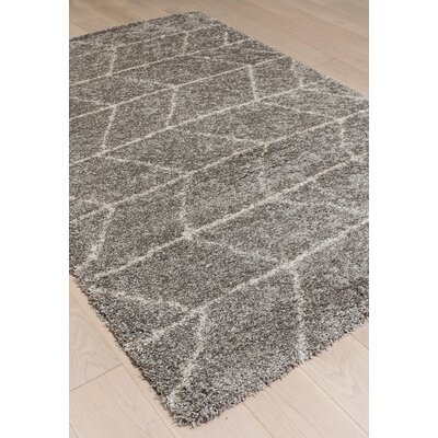 Tefft Gray/Ivory Area Rug Rug Size: 53 x 76