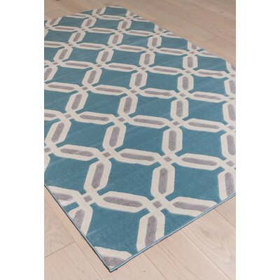Colesberry Gray/Teal Area Rug Rug Size: 79 x 106