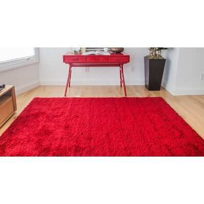 Justine Red Area Rug