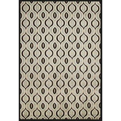 Coronado Black/Grey Area Rug Rug Size: 53 x 76