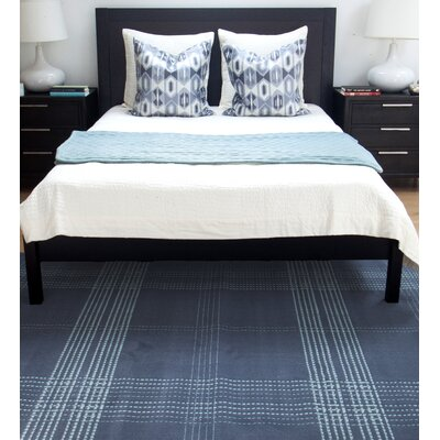 Kohala Plaid Blue/Teal Area Rug Rug Size: 53 x 76