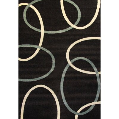 Tedford Links Black Area Rug Rug Size: 8 x 10