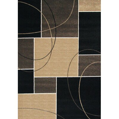 Tedford Chocolate/Gray Area Rug Rug Size: 8 x 10