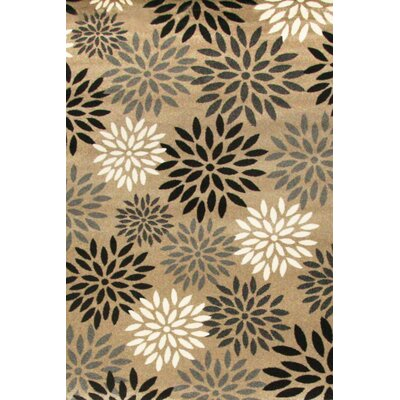 Merriman Black/Ivory Area Rug Rug Size: 5 x 8