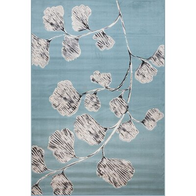 Burren Blue/Ivory Area Rug Rug Size: Rectangle 8 x 10