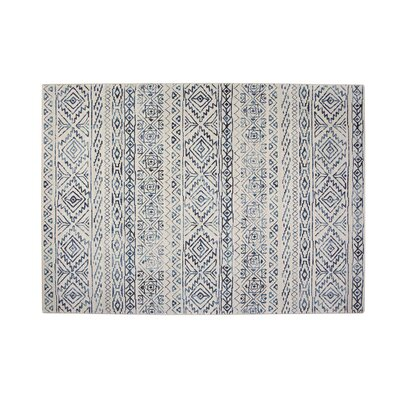 Coppermead Machine Woven Synthetic Ivory/Blue Indoor Area Rug Rug Size: Rectangle 8 x 10