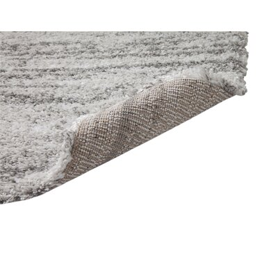 Bharat Ivory/Gray Area Rug Rug Size: Rectangle 8 x 10