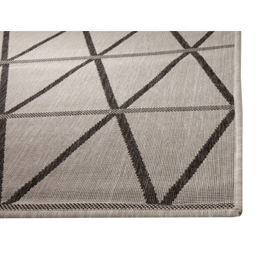 Glinda Charcoal/Gray Indoor/Outdoor Area Rug Rug Size: Rectangle 5 x 8