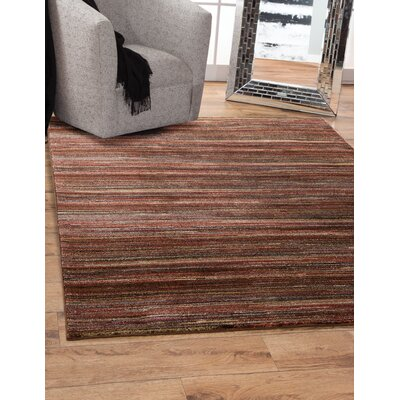 Shurtz Red/Brown Area Rug Rug Size: Rectangle 8 x 10