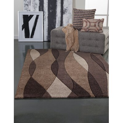 Klem Brown/Chocolate Area Rug Rug Size: Rectangle 8 x 10