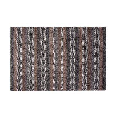 Adamsburg Charcoal/Brown Area Rug Rug Size: Rectangle 5 x 8