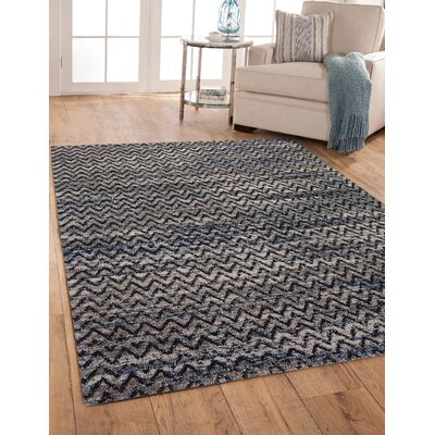 Teasley Shag/Flokati Synthetic Black/Gray Indoor Area Rug Rug Size: Rectangle 710 x 112