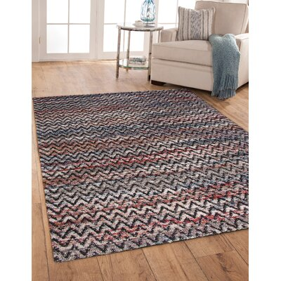 Teasley Shag/Flokati Synthetic Black/Ivory Indoor Area Rug Rug Size: Rectangle 8 x 10