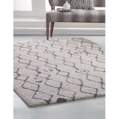 Adamsburg Ivory/Charcoal Area Rug Rug Size: Rectangle 710 x 112