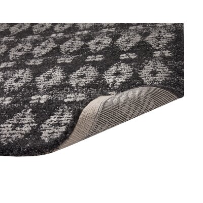 Adamsburg Shag/Flokati Synthetic Charcoal/Natural Indoor Area Rug Rug Size: Rectangle 710 x 112