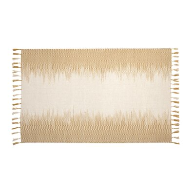 Briarden Hand-Woven Wool Yellow/Ivory Indoor Area Rug Rug Size: Rectangle 5 x 8