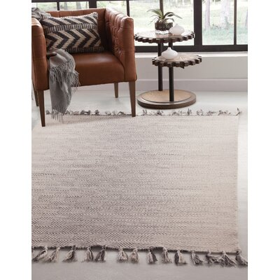 Briarden Hand-Woven Wool Charcoal/Gray Indoor Area Rug Rug Size: Rectangle 8 x 10