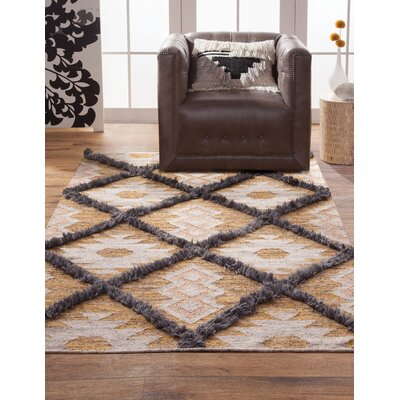 Addison Avenue Hand Woven Wool Yellow/Ivory Area Rug Rug Size: Rectangle 8 x 10