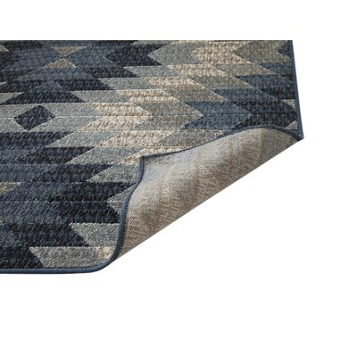Foulds Machine Woven Synthetic Blue/Natural Indoor Area Rug Rug Size: Rectangle 5 x 8