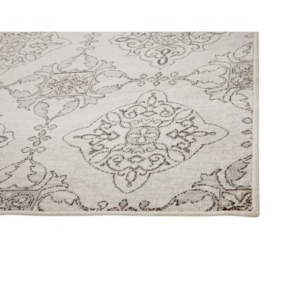 Beecroft Machine Woven Synthetic Ivory/Gray Indoor Area Rug Rug Size: Rectangle 5 x 8