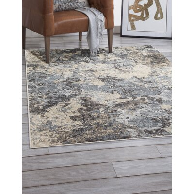 Lynnae Blue/Charcoal Area Rug Rug Size: Rectangle 5 x 8