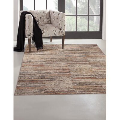 Bryzel Ivory/Gray Area Rug Rug Size: Rectangle 8 x 10