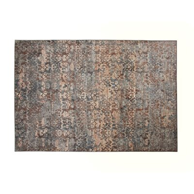 Turhan Machine Woven Synthetic Brown/Gray Indoor Area Rug Rug Size: Rectangle 53 x 76