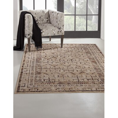 Bryzel Beige/Brown Area Rug Rug Size: Rectangle 8 x 10