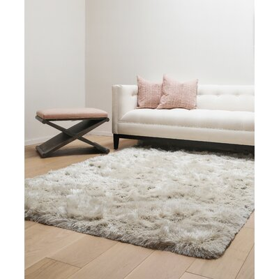 Yan Hand-Woven Polyester Ivory Indoor Area Rug Rug Size: Rectangle 8 x 10