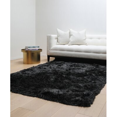 Yan Hand-Woven Polyester Charcoal Indoor Area Rug Rug Size: Rectangle 8 x 10