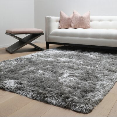 Yan Hand-Woven Polyester Gray Indoor Area Rug Rug Size: Rectangle 5 x 8