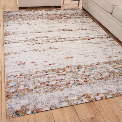 Bharat Ivory Area Rug Rug Size: Rectangle 8 x 10