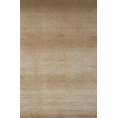 Mystic Hand-Knotted Beige/Gray Area Rug Rug Size: 5' x 8'