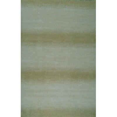 Mystic Hand-Knotted Aqua/Green Area Rug Rug Size: 5 x 8