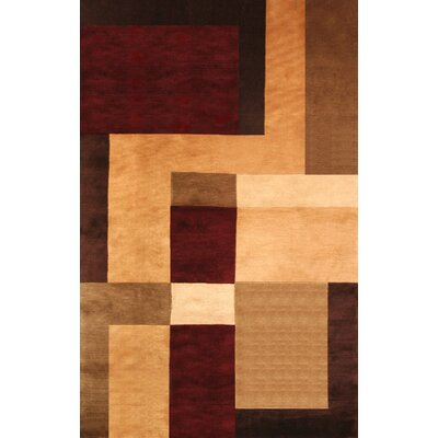 Mystic Hand-Knotted Gold/Brown Area Rug Rug Size: 5 x 8