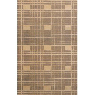 Provincetown Hand-Knotted Beige Area Rug Rug Size: 5 x 8