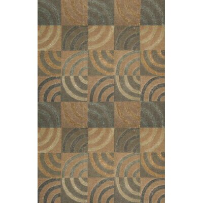 June Newton Tan/Grey Area Rug Rug Size: 5 x 8