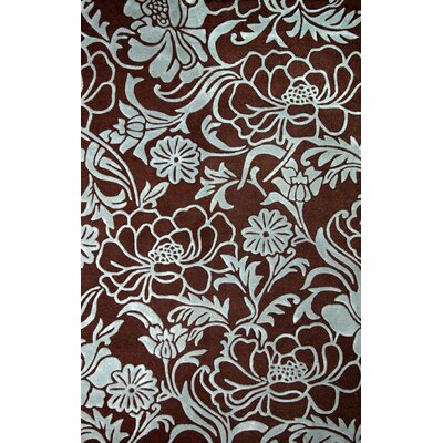June Dresden Chocolate/Aqua Area Rug Rug Size: 8 x 10