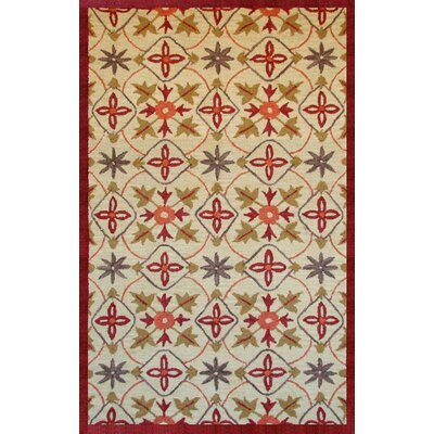 Brimstone Kinsley Beige/Red Area Rug Rug Size: 5 x 8