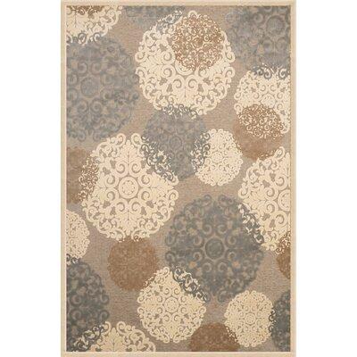 Baxter Grey/Tan/Ivory Area Rug Rug Size: 53 x 76