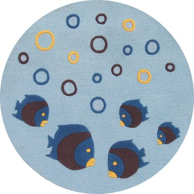 Kalyn Aquarium Light Blue Area Rug Rug Size: Round 39