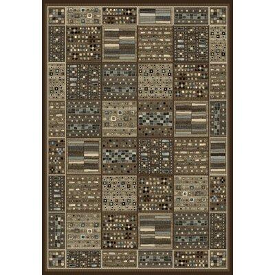 Bryzel Chocolate/Ivory/Gray Area Rug Rug Size: 53 x 76