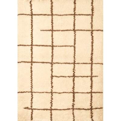 Lisson Off White/Chocolate Area Rug Rug Size: 5 x 8