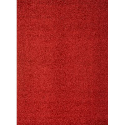 Justine Red Area Rug Rug Size: 53 x 76