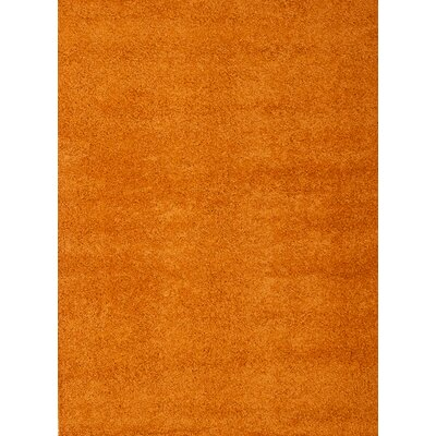 Justine Orange Area Rug Rug Size: 53 x 76