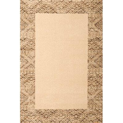 Boulton Ivory/Brown Area Rug Rug Size: 7'10