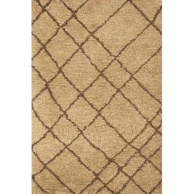 Lisson Tan/Brown Area Rug Rug Size: 5 x 8